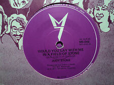 """Judy Stone """"Would You Lay With Me In A Field Of Stone"""" 1974 M7 Oz 7"""" 45rpm"""