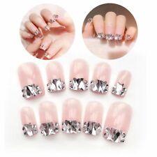 False Polished Nails Gel Artificial Fingernail Shimmer Press On Nail Tips 24pcs