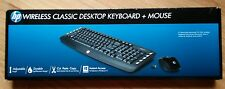 HP Wireless Classic Desktop Keyboard and Mouse Pointers Mice Computers Black New