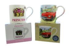2 emballé tasses Boite de cadeau voiture et princesse couronne
