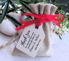 150 Personnalisé Merci Mariage Faveur Cadeau/Luggage Tags étiquettes avec ruban