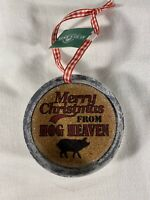 Kurt S Adler Merry Christmas From Hog Heaven Ornament Jar Lid