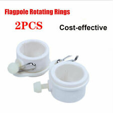"2 Pcs Flagpole Rotating Clips Fit 1"" Dia Flag Pole Tangle Free Mounting Rings"