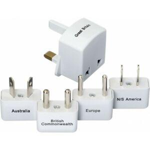 GO Travel E7 Worldwide Compact Travel Plug Adapter Set Kit 380