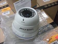 LOOK-COM LC-1248SVR40F2N Weatherproof Dome Security Surveillance Cameras (White)