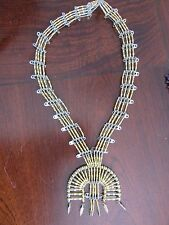 """Navajo Beaded """"Naja Necklace"""" MADE OF BEADED SAFETY PINS! unique and unusual"""