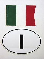 Original 1970's ITALIA flag/banner and ITALY oval vinyl sticker Vespa Lambretta