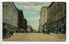 Worcester MA Mass Main Street South from Exchange, Turkish Bath, stores 1911