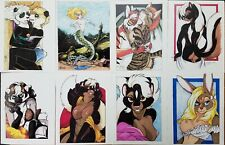 Terrie Smith Anthropomorphic Character Numbered Print Drawings Collection RARE