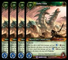 4x Gahz'rilla Betrayal of the Guardian Epic 15 World Warcraft WoW TCG CCG Card