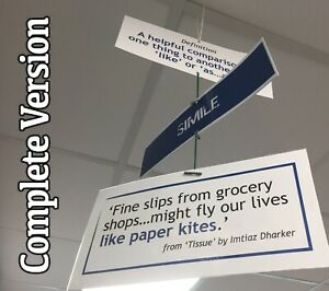 8 FIGURATIVE LANGUAGE MOBILES FOR ENGLISH / LITERACY CLASSROOM - FREE DELIVERY