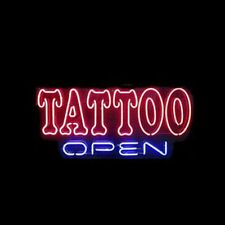 "New Tattoo Open Beer Neon Light Sign 20""x16"""