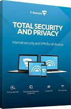 F-SECURE TOTAL SECURITY AND PRIVACY 2021 - FOR 3 PC DEVICES - 2 YEARS - Download