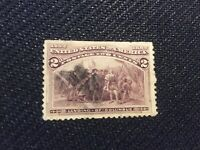 Stamp:Used United States 2cents Brown Violet stamp,Colombian Exposition 1893/Lan
