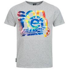 Mens Crew Neck Sonneti Top Tee T-shirt 100 Cotton Regular Fitting Grey XL