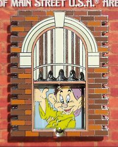Disneyland Windows of Main  Street Dopey Snow White LE Pin