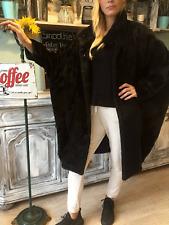 CHIC Luxus Lama Alpacca Wolle Mantel Naturhaar Wool Bat Coat Fledermaus 🌺 COOL