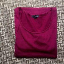 EBONY MERINO WOOL WOMENS TUNIC DRESS SIZE 12 EUC
