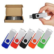 5PCS 4GB Swivel USB 2.0 Flash Drive Thumb Pen Drive Storage Memory Stick U Disk