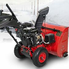 Schneefräse Benzin 6,5 PS Schneeräumer mit Elektrostart, Zweistufig 60cm Breite