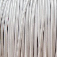 Silver Round Braided Fabric Cable 3-Core 0.5mm for all lighting
