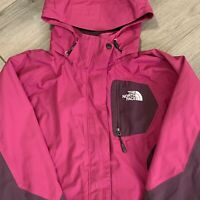 The North Face Jacket Womens Medium Pink Purple Hooded Hyvent Rain Coat Adult