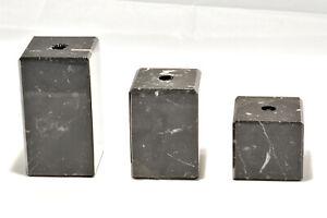 verschiedene Größen schwarze Marmorsockel mit Lochbohrung, B-Ware