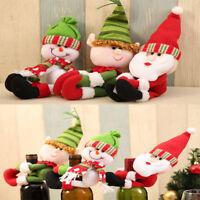 Christmas Santa Snowman Elf Wine Bottle Cover Table Decor Xmas Ornaments NEWLY