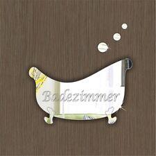 Signo De Puerta Badezimmer Placa Hogar Oficina Escuela hotel signag Acrílico Espejos Regalo