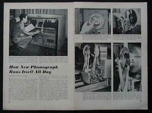 Select-O-Matic 200 Seeburg 1st Jukebox Library 1948 original pictorial