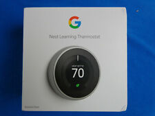 Nest 3rd Gen. Learning ThermostatGoogle T3007ES - Stainless Steel 2