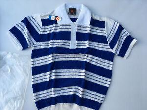 New Old Stock 1970s Vintage Original Hipster Rockabilly Short Sleeve Shirt Sz 18