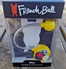 French Bull LED Disc Reading Light in Villa pattern by WITHit Yellow