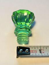 vintage glass crystal knobs. Pristine condition. Green. per item.