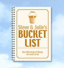 Personalised Bucket List Notebook A6 with lined or plain pages