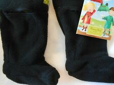 WESTERN CHIEF KIDS-SIZE XS {US 5-6) BLACK RAIN BOOT FLEECE LINERS TODDLER BOYS