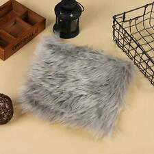 Soft Fluffy Rug Sheepskin Faux Fur Wool Shaggy Hairy Mat Round Irregular Y2