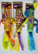 (Set of 3) Cuddle Buddies Giant Squeaker Dog Toys ~ Bear, Cat and Dog