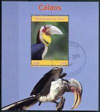 Mali 2018 CTO Hornbills 1v M/S Calaos Birds Bird Stamps