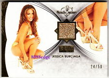 2013 BENCHWARMER GOLD EDITION HIGH HEEL-JESSICA BURCIAGA #24/50 WORN SHOE SWATCH