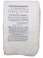 Marat L'ami du Peuple 1790 Rare Journal Révolution Française Abbaye Pentemont