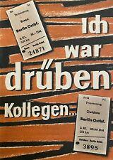 Ich war drüben Kollegen...DDR Reisebroschüre von 1955 Neuwertig