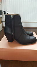 ACNE STUDIOS The Pistol Leather Ankle Boots in Black Size UK6 EU39 US