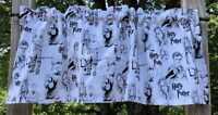 Handcrafted Harry Potter Valance Black & White Line Art Handmade Curtain Valance
