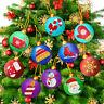 Weihnachtsbaum-Anhänger 5D Diamantmalerei Weihnachtsverzierung Kreuzstich