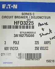 EATON CUTLER HAMMER HFD3225 3 Pole 225 Amp HFD Breaker French Canadian Label