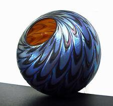 Vase boule art nouveau en verre spiral irisé Lötz Loetz c1900 jugendstill 12,5cm