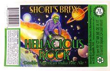 Short's Brewing HELLACIOUS ROCK beer label MI 12oz STICKER