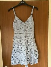 WOMENS ABERCROMBIE AND FITCH Light Blue Lace Dress Size 8 Brand New