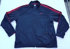 Nike full-zip track jacket men sz 2XL black/red